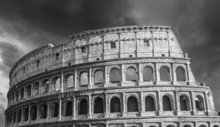 Black and White Architectural detail of Rome in Italy photo