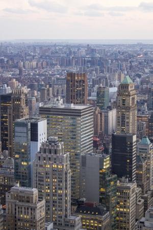 u s a: Aerial view of New York City Skyline, U S A  Stock Photo