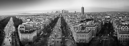 nice  france: View of Paris from Arc de Triomphe, France Stock Photo