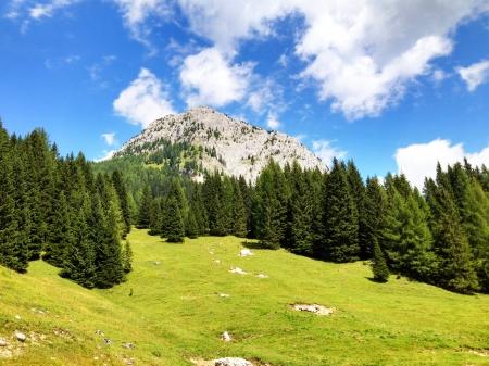 Paesaggio italiano Dolomiti nella stagione estiva