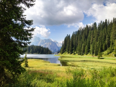 Italian Dolomites Landscape in Summer Season photo