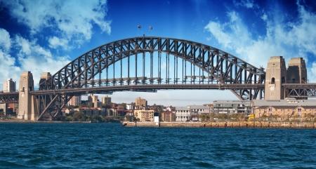 Sydney Harbour Bridge and Australian Sky, New South Wales photo