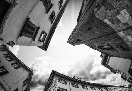 FIsheye view of Pisa Typical Homes, Italy photo