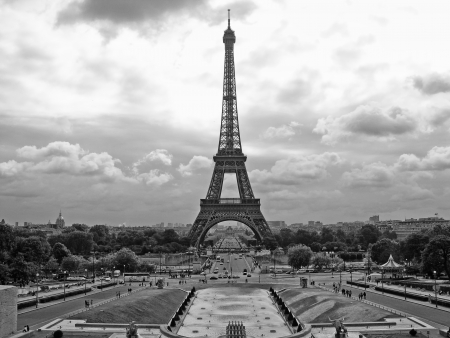 View of Eiffel Tower in Paris, France photo