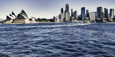 australie landschap: Architectuur detail van de Haven van Sydney, Australi
