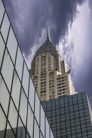 u s a: Storm above New York City Skyscrapers, U S A