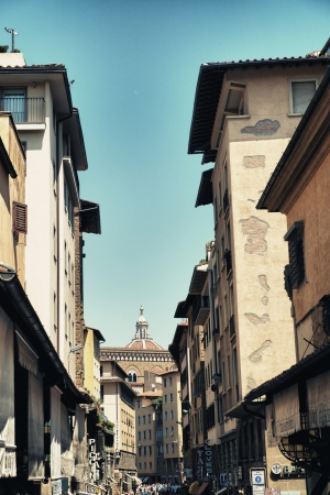 View of Florence in Old Bridge Area, Ponte Vecchio - Italy Stock Photo - 15131642