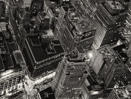 Vue de nuit de New York de l'Empire State Building