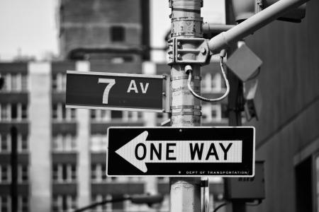 Classique signes de rue à New York City, USA