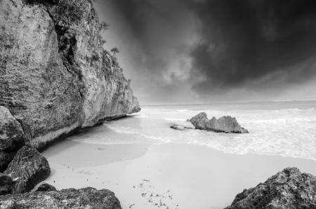 Storm on Tulum Coast, Mexico photo