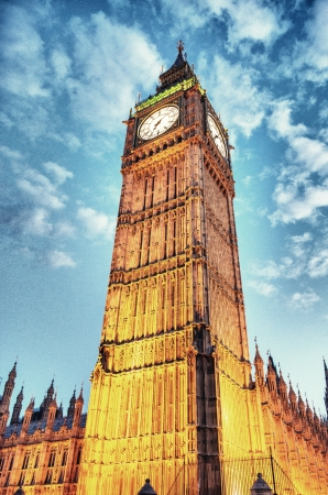 Wonderful night street view of Big Ben in London - UK Stock Photo - 15660297