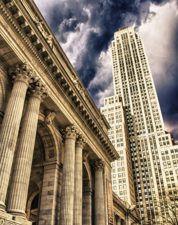 public library: New york public library, largest city public library in the USA Stock Photo