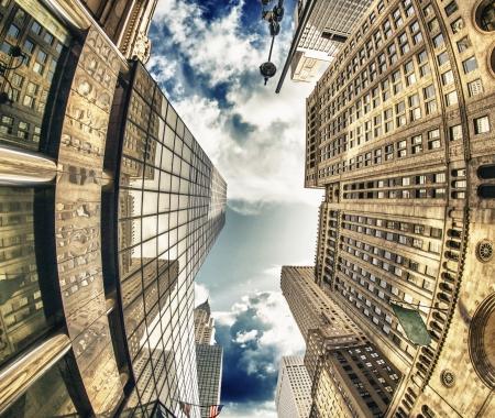 u s a: Majesty of New York City Skyscrapers, U S A  Stock Photo