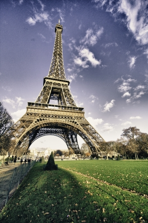 Barvy nebe nad Eiffelova věž