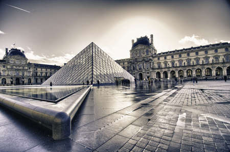 winter palace: Architectural Structure of Louvre Exterior, France Editorial