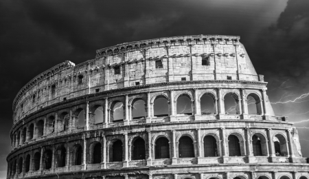 The iconic ancient Colosseum of Rome - Italy