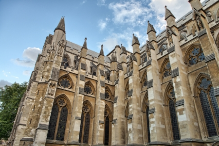 The Westminster Abbey church in London, UK - Side view. Stock Photo - 16214512