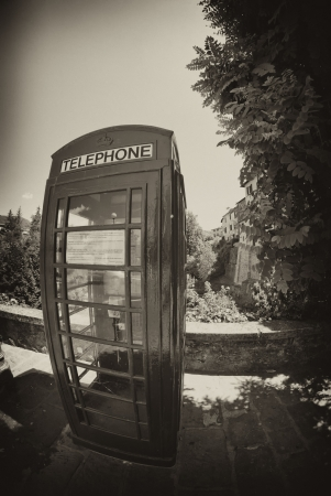 Red Telephone Cabin in Barga, Italy photo