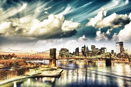 New York City - Manhattan skyline at winter sunset - USA Stock Photo - 16322549