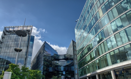 Canary Wharf is a large business and shopping development in East London. Londons traditional financial centre