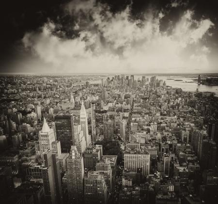 Skyscrapers of New York City - Manhattan, Aerial view Stock Photo - 16531914