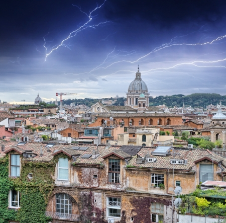 Beautiful panorama of Rome Homes and Landmarks  Stock Photo - 16585794