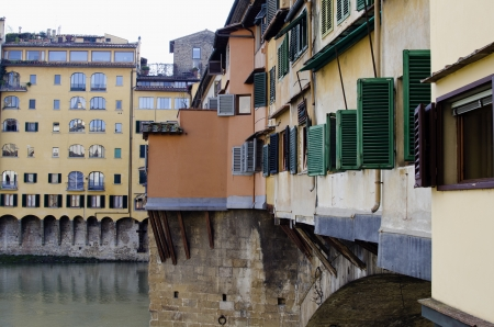 Architectural Detail near Ponte Vecchio, Florence, Italy Stock Photo - 16675031