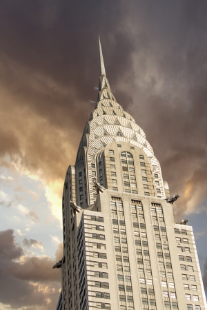 midtown manhattan: NEW YORK - MARCH 12  Chrysler building facade, pictured on on March 12th, 2010 in New York, was the world Stock Photo