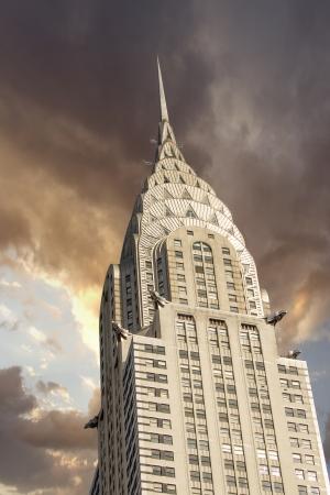 central: NUEVA YORK - 12 de marzo fachada del edificio Chrysler, aparece en el 12 de marzo de 2010 en Nueva York, era el mundo Foto de archivo