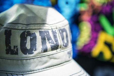 Gray Hat in Camden Town Market - London - UK Stock Photo - 17017520