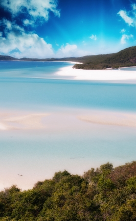Wonderful colors of Whitsunday Islands on winter season, Australia. Stock Photo - 17120413