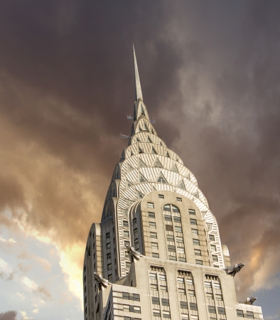 NEW YORK - MARCH 12: Chrysler building facade, pictured on on March 12th, 2010 in New York, was the worlds tallest building before it was surpassed by the Empire State Building in 1931