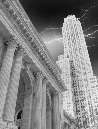New York Public Library and surrounding Skyscrapers, Manhattan Stock Photo - 17482615