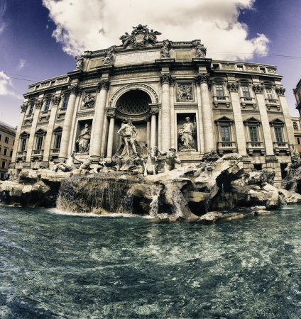 Colors of Trevi Fountain in Rome, Italy Stock Photo - 17588819