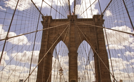 Brooklyn Bridge Architecture, New York City Stock Photo - 17603517