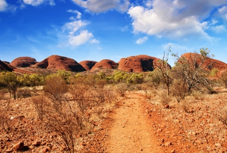 Wonderful colors and landscape of Australian Outback. photo