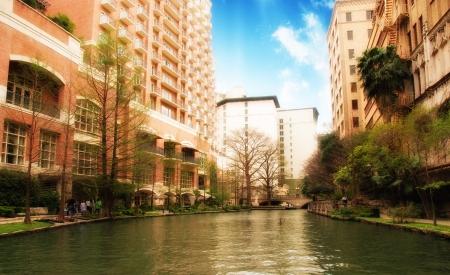 River and Buildings of San Antonio, Texas