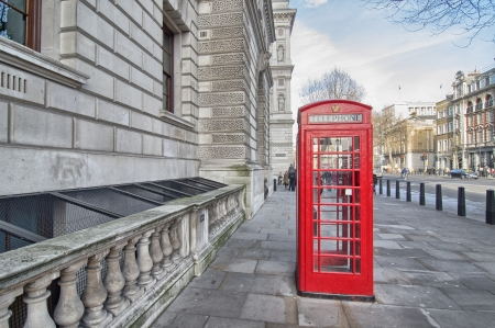 London  Classic Red Phone Booth  photo