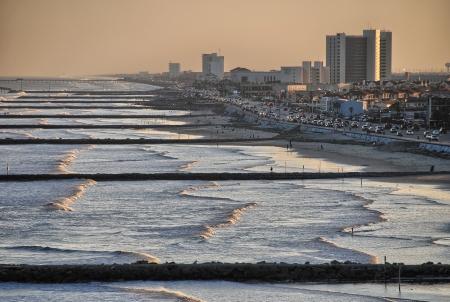 Galveston horizon et de la plage, Texas