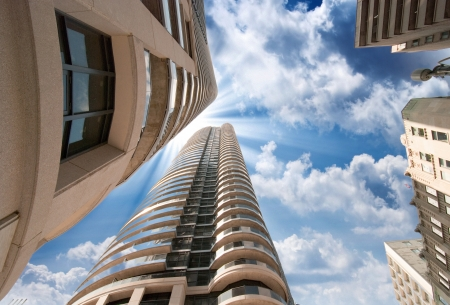 Wonderful upward view of Toronto Modern Buildings and Skyscrapers - Canada. Stock Photo - 17762922