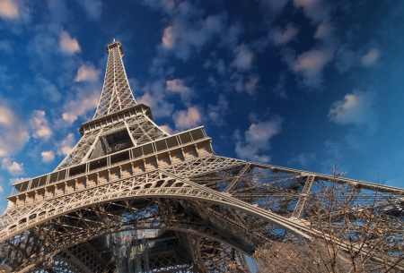 Beautiful colors of Eiffel Tower and Sky of Paris photo