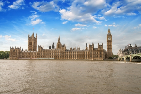 the palace of westminster: Houses of Parliament, Westminster Palace - London gothic architecture - UK