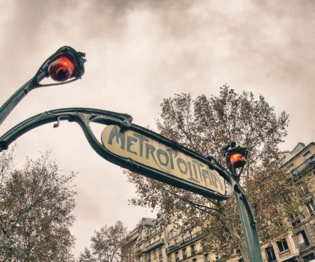 Architectural Detail of Paris in Winter, France photo