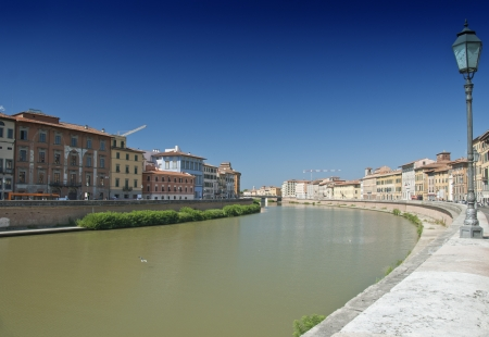 Detail of Lungarni in Pisa, Italy photo