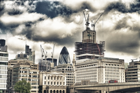 London, UK  Wonderful city skyline near Thames River on a cloudy day  Stock Photo - 18646680