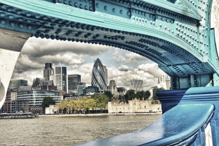 London, UK  Wonderful city skyline near Thames River on a cloudy day  Stock Photo - 18646684