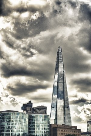 LONDON - SEP 29 Shard London Bridge ,it is the tallest building in the European Union  It is also the second-tallest free-standing structure in the United Kingdom on September 29 2012, London Stock Photo - 18646683