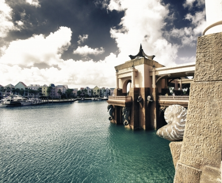 Architectural Detail of Nassau in the Bahamas, Caribbean