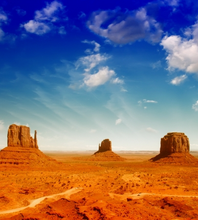 tribal park: Famous landscape of Monument Valley - Utah