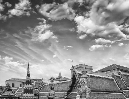 bangkok temple: Famous Bangkok Temple - Wat Pho, Thailand. Stock Photo